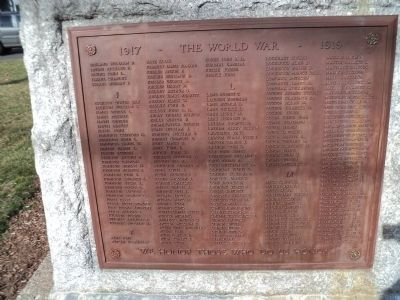 Norwalk World War I Veterans Plaque I-M image. Click for full size.