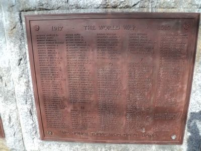 Norwalk World War I Veterans Plaque M-R image. Click for full size.