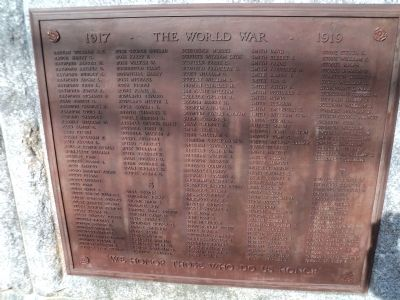 Norwalk World War I Veterans Plaque R-T image. Click for full size.