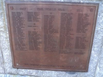 Norwalk World War I Veterans Plaque T-Z image. Click for full size.