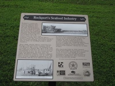 Rockport's Seafood Industry Marker image. Click for full size.