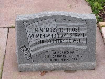 In memory to those women who have served their country so well image. Click for full size.