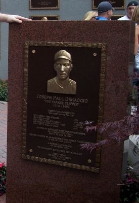 Joseph Paul Dimaggio Marker image. Click for full size.