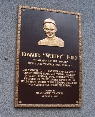 Whitey Ford Marker image. Click for full size.