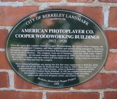 American Photoplayer Co. Marker image. Click for full size.