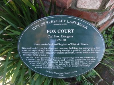 Fox Court Marker image. Click for full size.