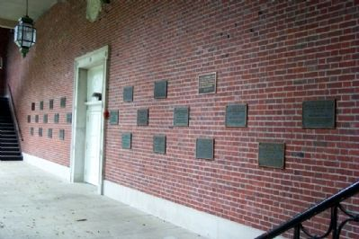 Ohio University's Distinguished Visitors Markers image. Click for full size.