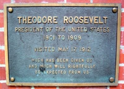 Ohio University's Theodore Roosevelt Marker image. Click for full size.