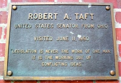 Ohio University's Robert A. Taft Marker image. Click for full size.