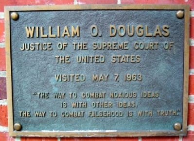 Ohio University's William O. Douglas Marker image. Click for full size.