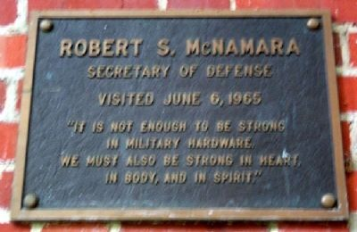 Ohio University's Robert McNamara Marker image. Click for full size.