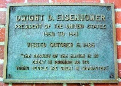 Ohio University's Dwight D. Eisenhower Marker image. Click for full size.