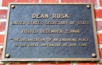 Ohio University's Dean Rusk Marker image. Click for full size.