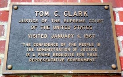Ohio University's Tom C. Clark Marker image. Click for full size.