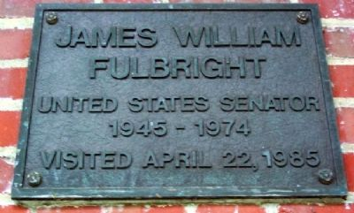 Ohio University's James William Fulbright Marker image. Click for full size.