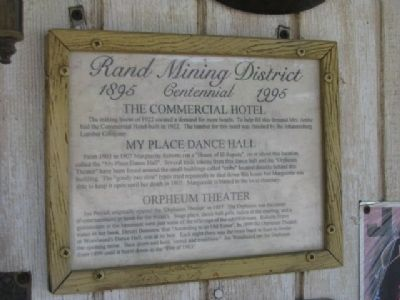 The Commerical Hotel Marker image. Click for full size.