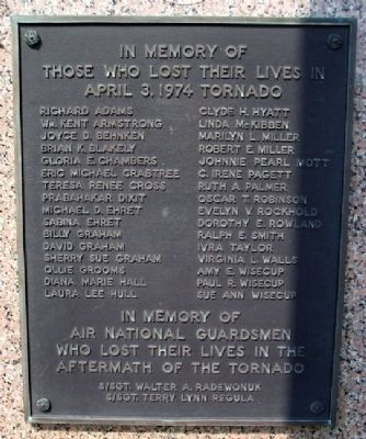 1974 Xenia Tornado Memorial Marker Photo, Click for full size