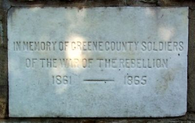Greene County Civil War Memorial image. Click for full size.