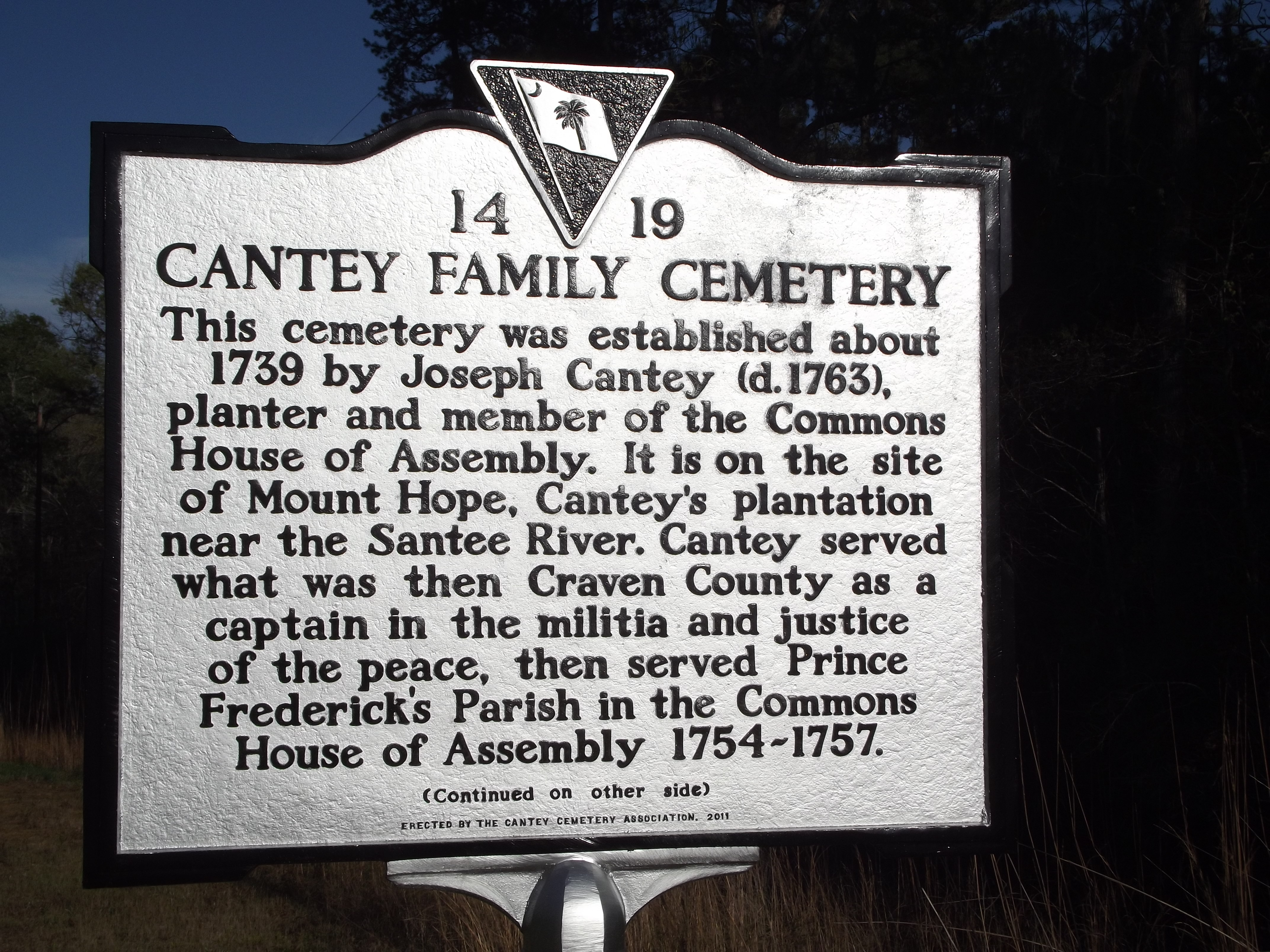 Cantey Family Cemetery Marker
