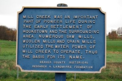 Mill Creek Marker Photo, Click for full size