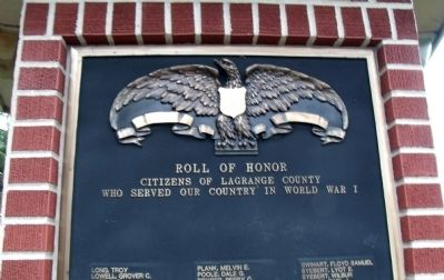 "W.W. I ""L - Z"" - - LaGrange County Honor Roll image. Click for full size."