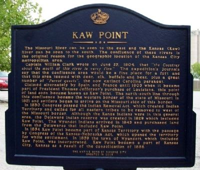 Kaw Point Marker (Side B) image. Click for full size.