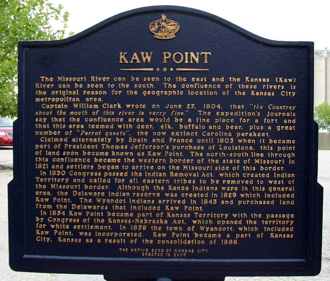 Kaw Point Marker (Side B)