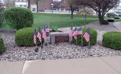 Wide View - - Noble County Veterans Memorial Marker image. Click for full size.