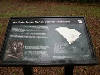 The Elusive Francis Marion: Guerrilla Commander Marker image. Click for full size.