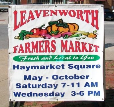 Haymarket Square Farmers Market Sign image. Click for full size.