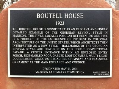 Boutell House Marker image. Click for full size.