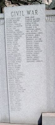 Civil War - More Names Listed image. Click for full size.