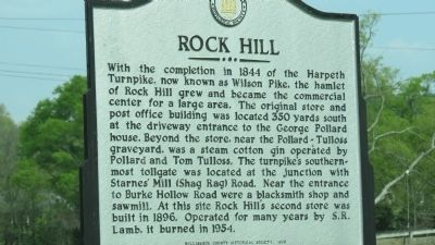 Rock Hill Marker image. Click for full size.