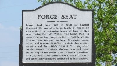 Forge Seat Marker image. Click for full size.