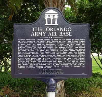 Orlando Army Air Base Marker image. Click for full size.