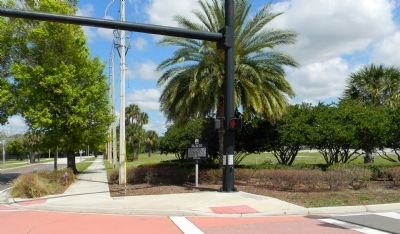 Wide view of the Orlando Army Air Base Marker image. Click for full size.