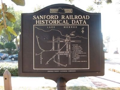 Sanford Railroad Historical Data Marker image. Click for full size.