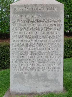 The Army of Tennessee Marker (Left) image. Click for full size.
