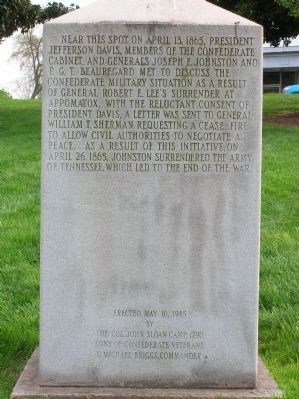 The Army of Tennessee Marker (Back) image. Click for full size.