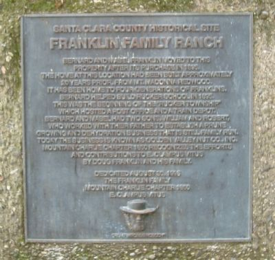 Franklin Family Ranch Marker image. Click for full size.