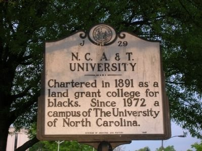 N.C. A. & T. University Marker image. Click for full size.