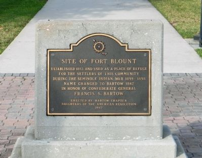 Site of Fort Blount Marker Photo, Click for full size