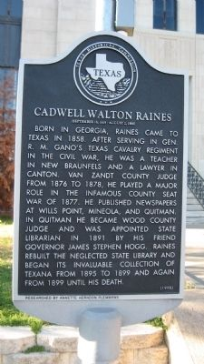 Caldwell Walton Raines Marker image. Click for full size.