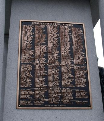 East Side - - Honor Roll image. Click for full size.