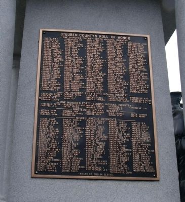 South Side - - Honor Roll image. Click for full size.