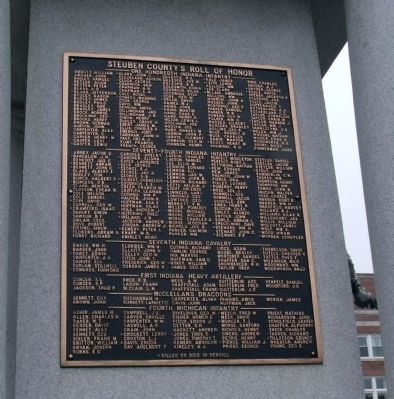 West Side - - Honor Roll image. Click for full size.