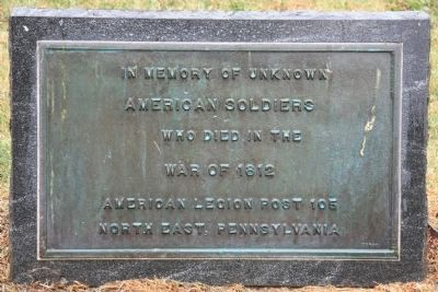 In Memory of Unknown American Soldiers Marker Photo, Click for full size