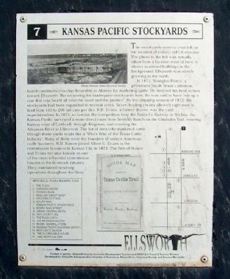 Kansas Pacific Stockyards Marker image. Click for full size.