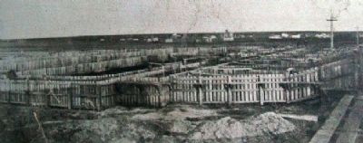 Photo of Kansas Pacific Stockyards on Marker image. Click for full size.