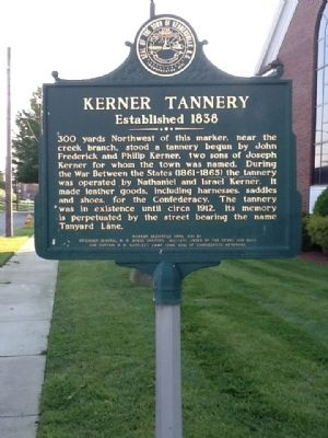 Kerner Tannery Marker image. Click for full size.
